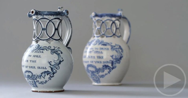 Ceramics Artist Recreates an 18th Century Puzzle Jug