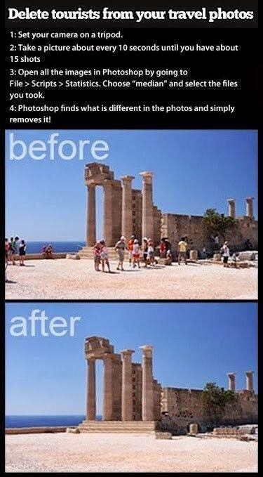 delete tourists from photo The 55 Most Useful Life Hacks Ever