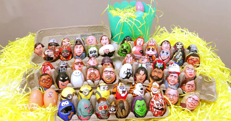 Artist Paints 62 Awesome Egg Characters for Easter