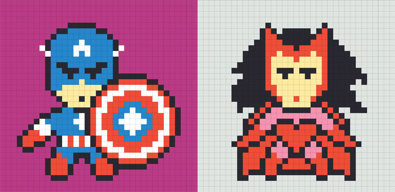 Employee Uses Post-Its to Turn Drab Office Walls Into Giant Superhero Murals (23)