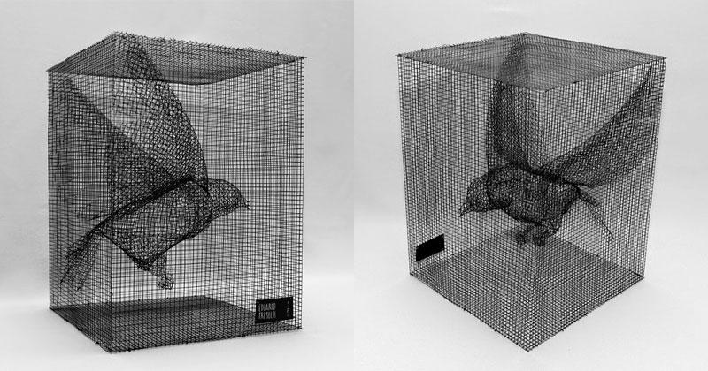 Figurative Wire Mesh Sculptures by EdoardoTresoldi