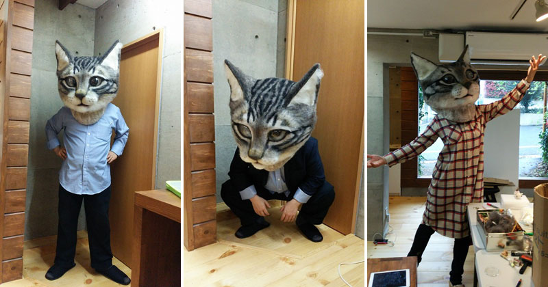 Art Students in Japan Made a Giant Cat Head and it's Glorious
