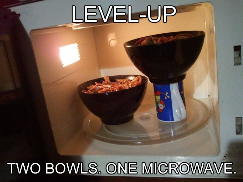 how to fit two bowls into microwave life hack The 55 Most Useful Life Hacks Ever