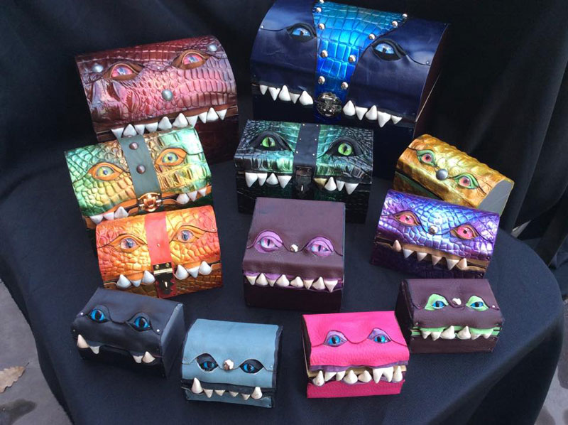 leather monster bags and boxes by mellie z fine line leather design (3)