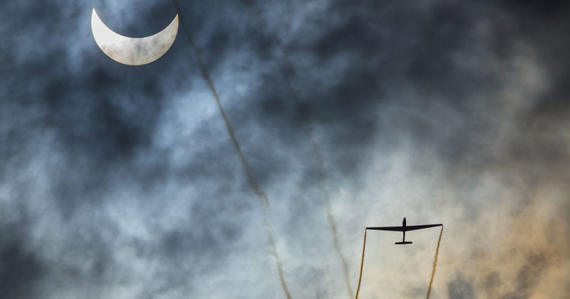 Picture of the Day: Sailplane Solar Eclipse