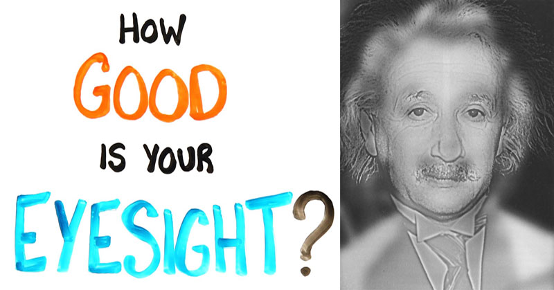 This Marilyn Monroe, Albert Einstein Vision Test Can Quickly Tell If you Need Glasses