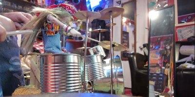 Drumming Marionette Tears Through Tom Sawyer byRush