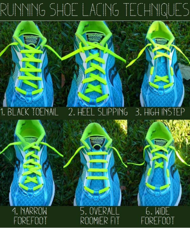 running shoe lace techniques