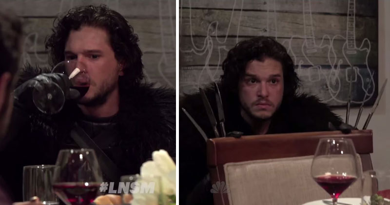 Seth Meyers Brings Jon Snow to a Dinner Party