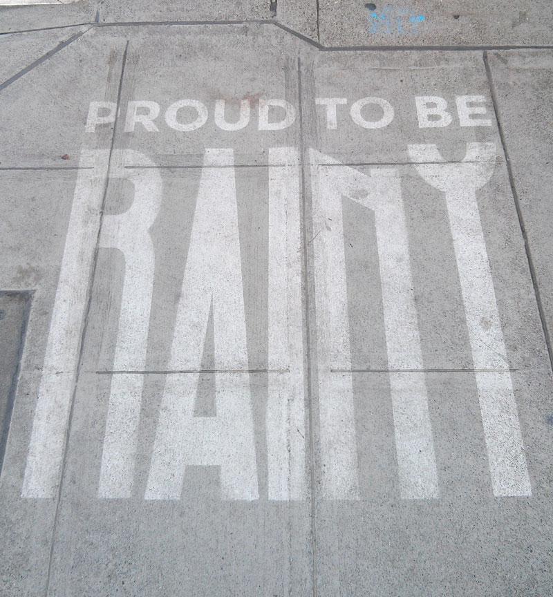 sidewalk art only appears when it rains peregrine church rainworks (13)