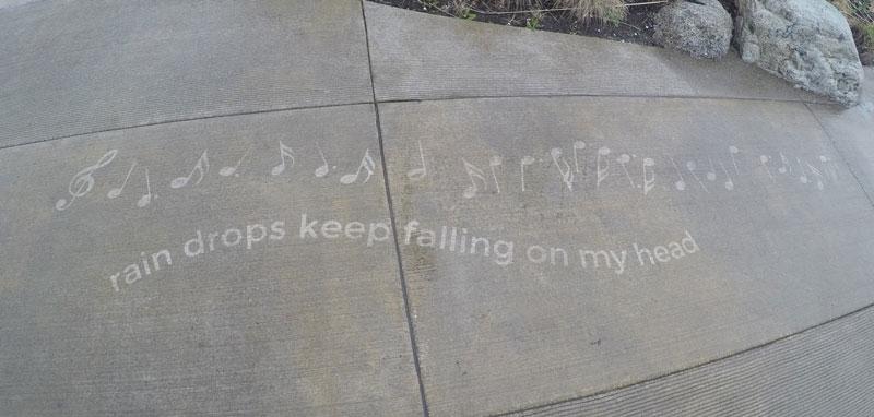 sidewalk art only appears when it rains peregrine church rainworks (14)
