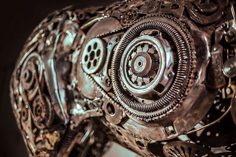 steampunk pegasus made from scrap metal by hasan novrozi (2)