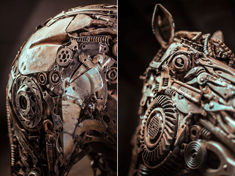 steampunk pegasus made from scrap metal by hasan novrozi (6)