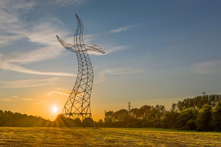 the dancing transmission tower