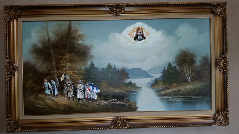 thrift store paintings by david irvine gnarled branch (2)