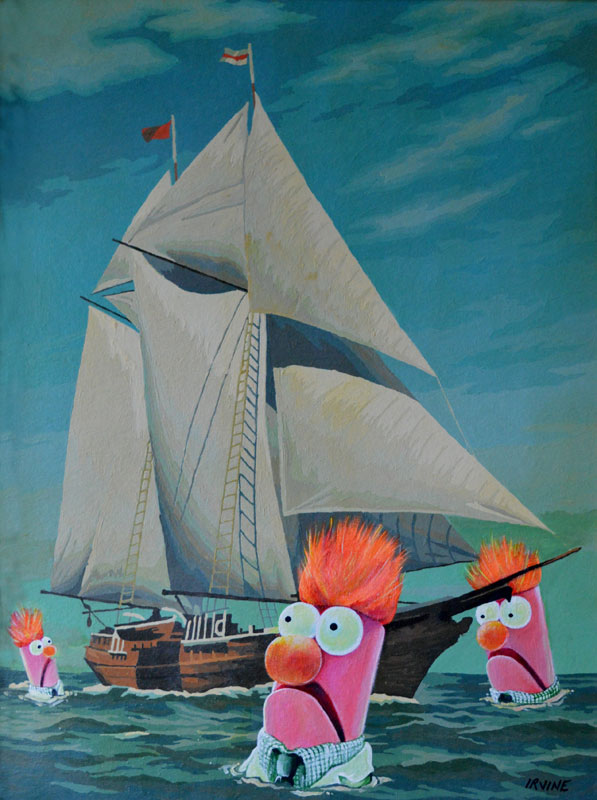 thrift store paintings by david irvine gnarled branch (4)
