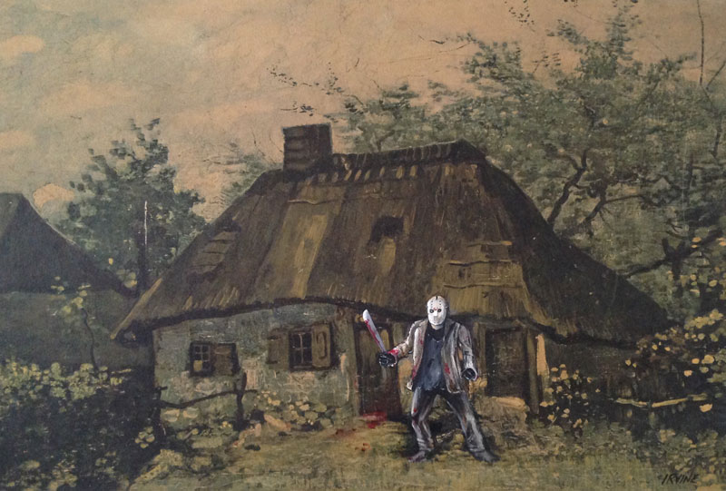 thrift store paintings by david irvine gnarled branch (6)