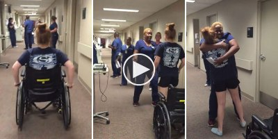 Woman with Paralysis Surprises Her Nurse by Walking