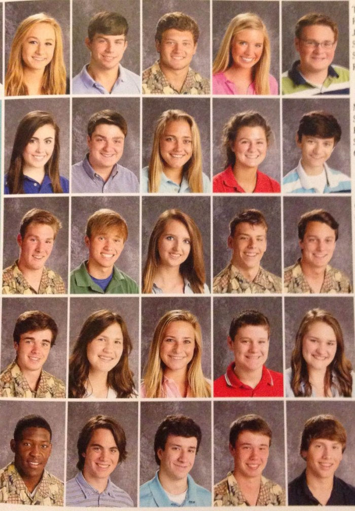 arkansas high school students pass around pineapple shirt for picture day (1)