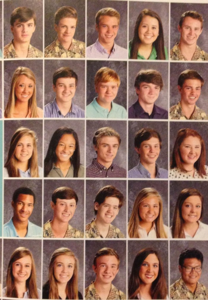 arkansas high school students pass around pineapple shirt for picture day (2)