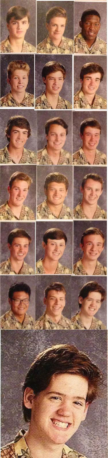 arkansas high school students pass around pineapple shirt for picture day (5)