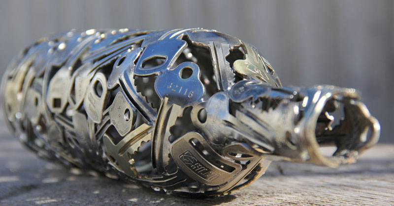 Artist Turns Discarded Keys and Coins Into Works of Art