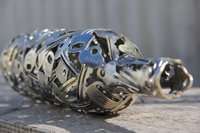 artist turns discarded keys and coins into works of art 5 Artist Turns Discarded Electronics Into Amazing Winged Insects