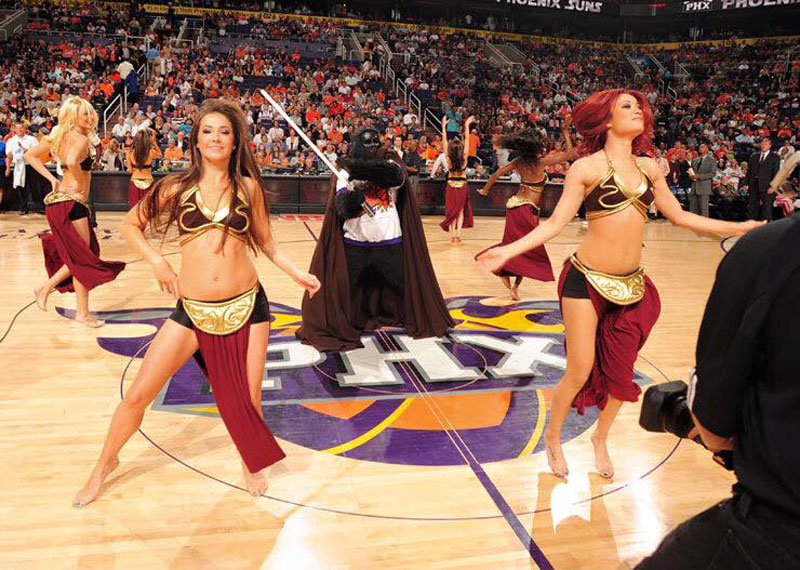 darth vader phoenix suns basketball game