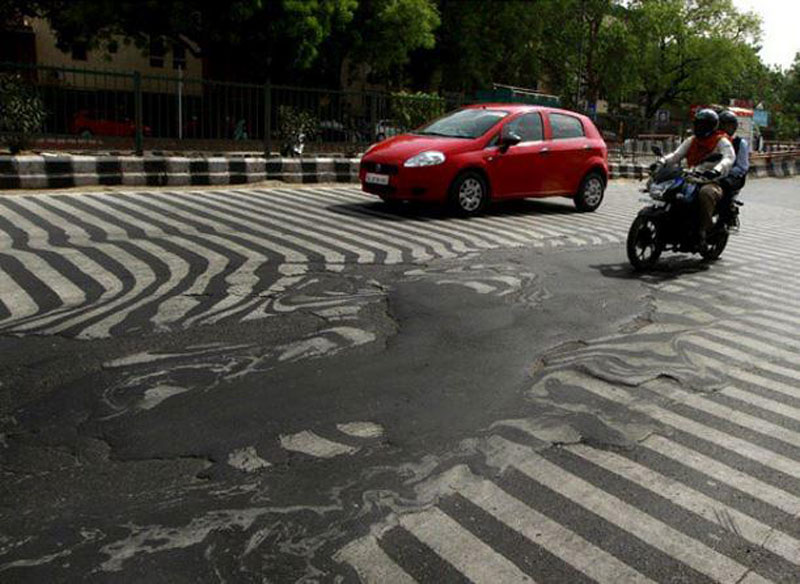 Picture of the Day: It's So Hot in India the Streets areMelting