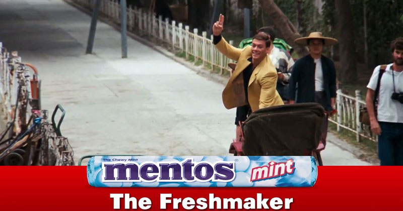 Someone Turned the Chase Scene from Bloodsport Into a Mentos Ad and it's Perfect