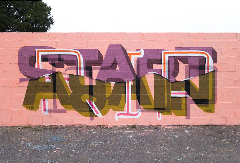 Multi-Layered Graffiti Murals of PopularExpressions