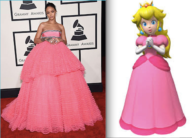 rihanna dressing like characters from mario (2)