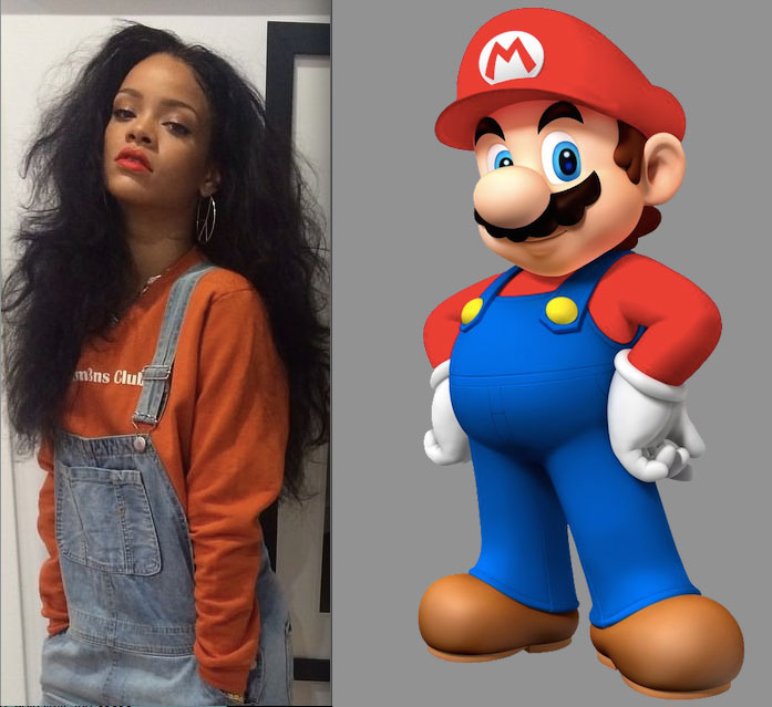 rihanna dressing like characters from mario (5)