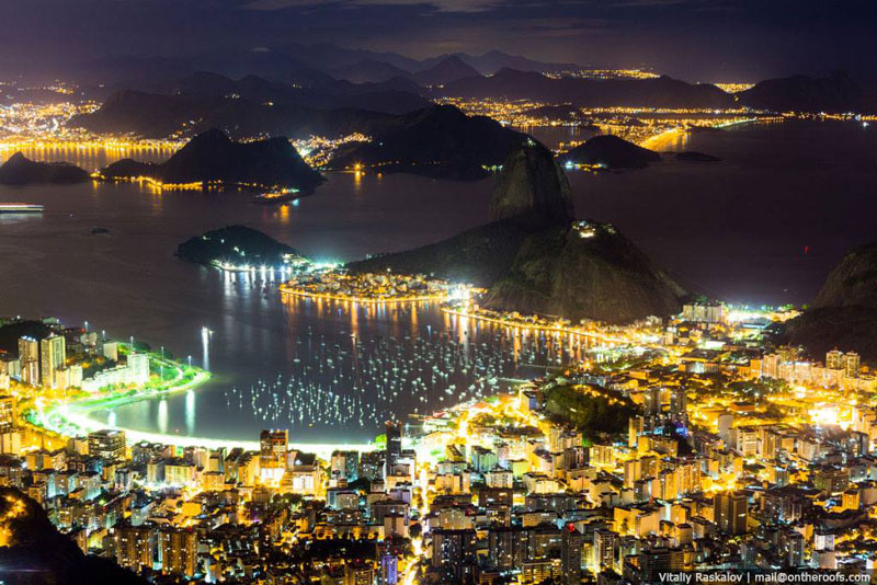 rio de janeiro brazil at night aerial skyline cityscape Picture of the Day: Rio at Night
