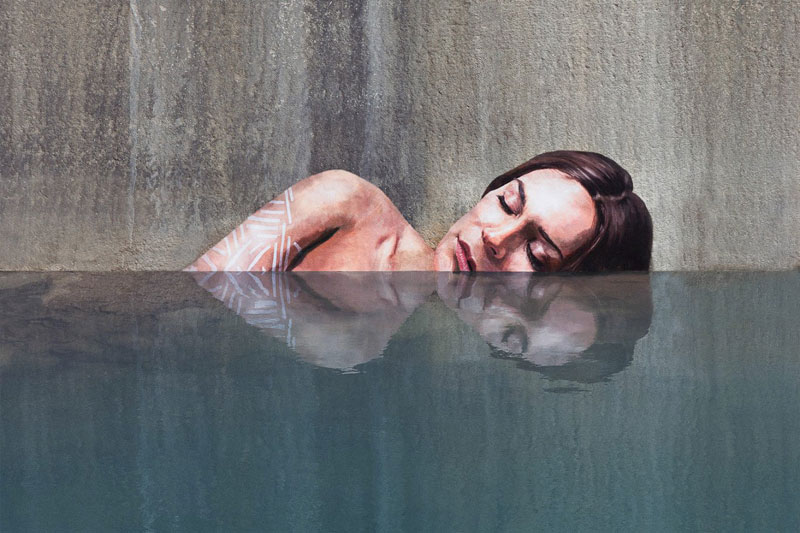 street Artist hula Uses Paddleboard to Paint in Hard to Reach Places (1)
