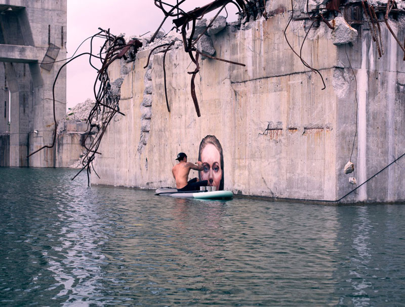 street Artist hula Uses Paddleboard to Paint in Hard to Reach Places (11)