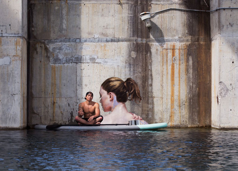 street Artist hula Uses Paddleboard to Paint in Hard to Reach Places (7)