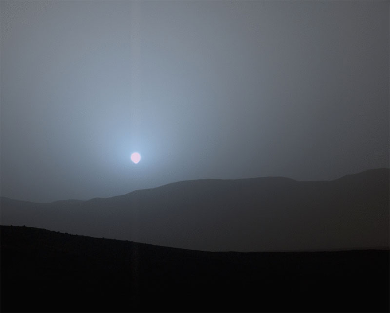 sunset on mars The Top 100 Pictures of the Day for 2015
