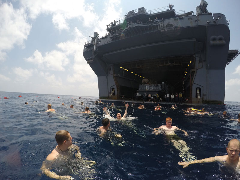 swim call golf of aden iwo jima us navy The Top 50 Pictures of the Day for 2015