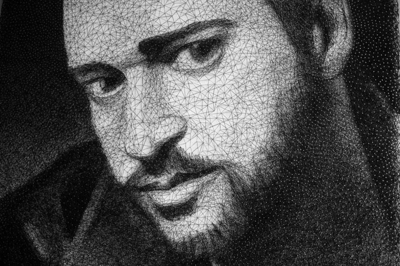 zenyk palagniuk artist justin timberlake portrait thread and nails (4)