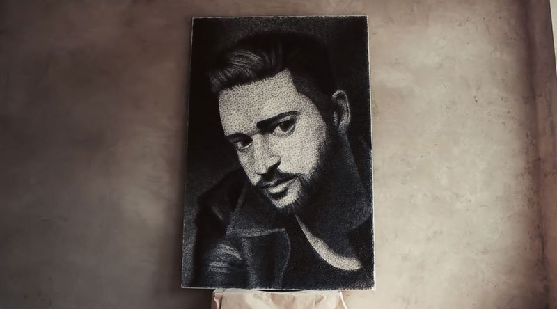 zenyk palagniuk artist justin timberlake portrait thread and nails (8)