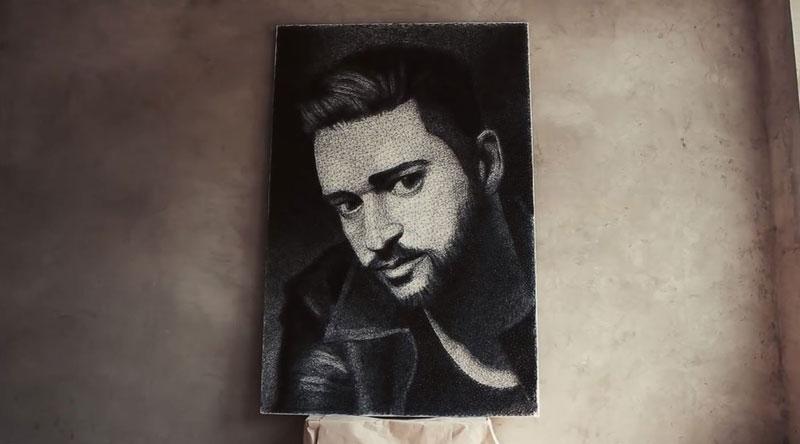 zenyk palagniuk artist justin timberlake portrait thread and nails (8)