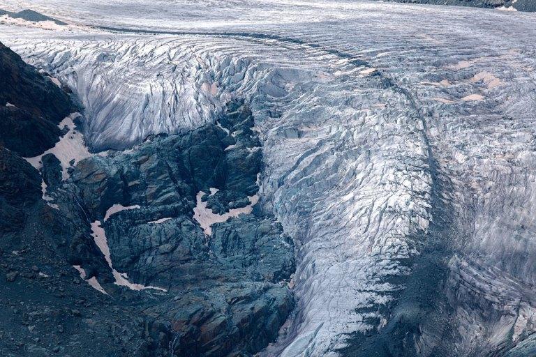 Gorner Glacier above the Swiss town
