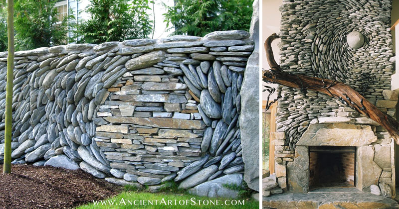 Stone Wall Art couple creates the most beautiful stone walls ever «twistedsifter