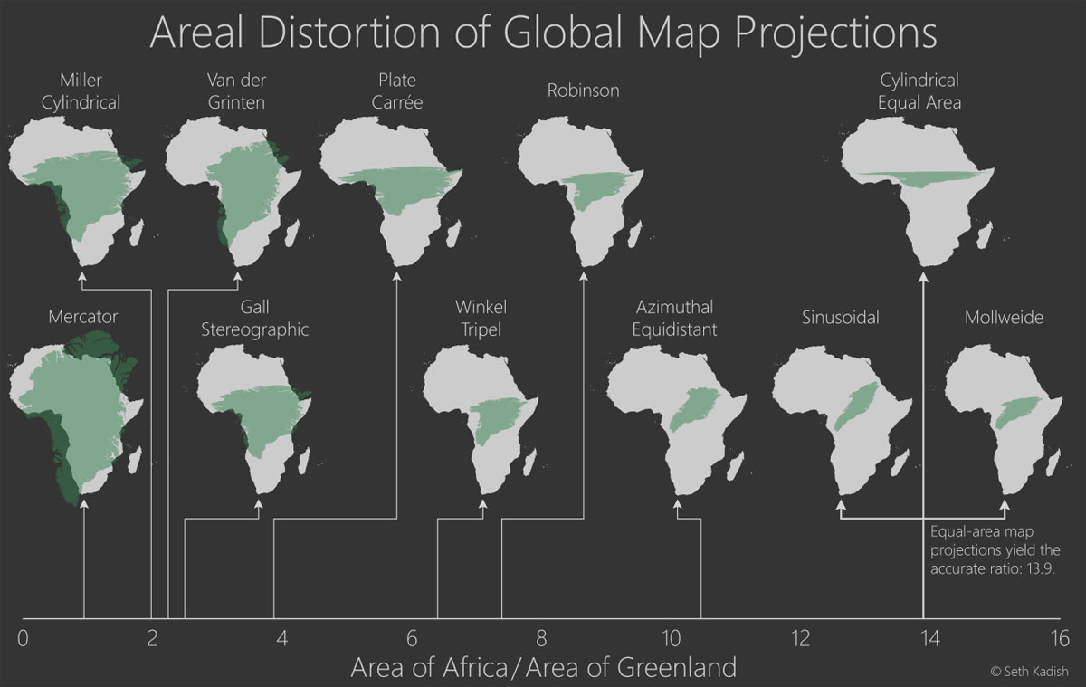 Areal distortion of global map projections twistedsifter areal distortion of global map projections gumiabroncs Image collections