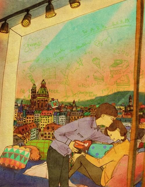 Artist Puuung illustrates What Real Love Looks Like (1)
