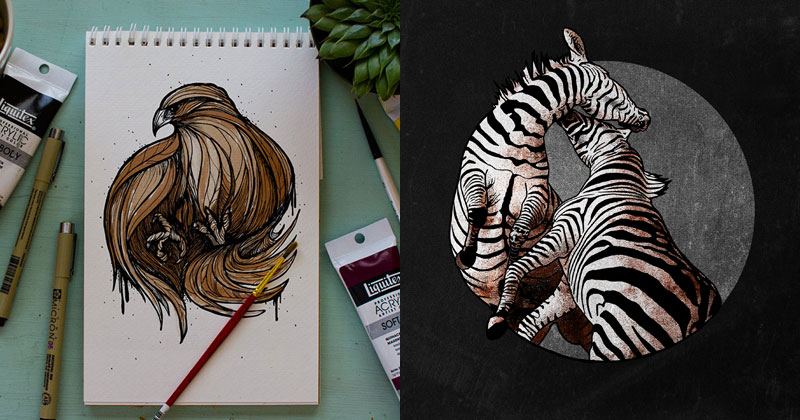 These Artists Challenged Each Other to a Daily 'Animal Alphabet' DrawingDuel