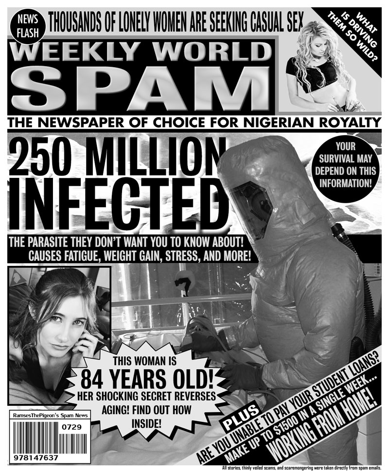 artists turn spam headlines into tabloid covers (3)