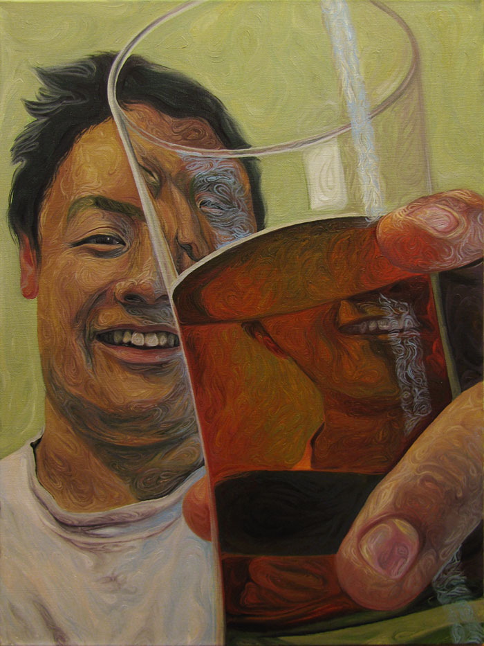 Beer Googles Oil Painting Series by Christopher Mangan (3)