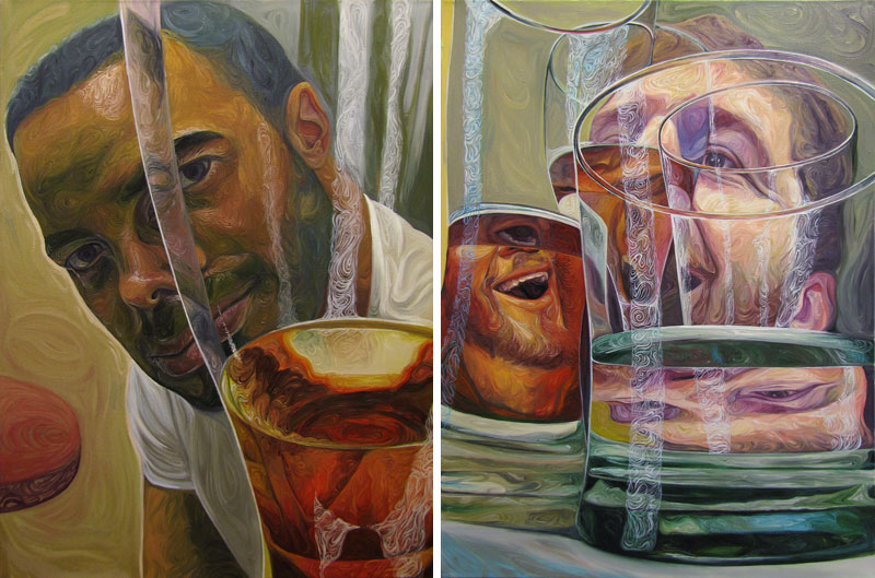 """Beer Goggles"" Oil Painting Series by Christopher Mangan"